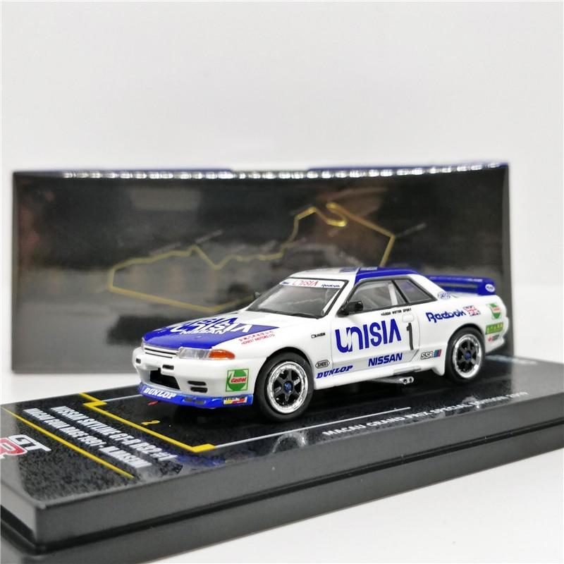 INNO64 1:64 Nissan Skyline GTR R32 #1 UNISIA MACAU Grand Prix Special 2019 Diecast Model Car