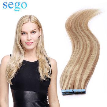 SEGO12 #8222 -24 #8221 2 5 g sztuka 20 40 sztuk skóry wątek ludzkie włosy proste taśma w ludzkich do przedłużania włosów nie Remy włosy taśma dwustronna w do włosów tanie i dobre opinie 25g 50g 10pcs 20pcs 12 -24 14 colors available Straight 100 Real Human Hair