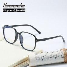 Iboode-0,5-1,0-1,5-2,0-2,5-3,0-3,5-4,0-4,5-5,0-5,5-6,0 protección transparente miopía gafas Anti-Luz Azul gafas