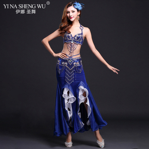 Image 5 - New High Quality Belly Dance Costume Sexy Bra+Skirt+belt Stage Performance Suits Outfits Oriental Belly Dance Clothes Slit Skirt