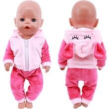 Animal bonito bordado boneca roupas para 18 Polegada americano boneca menina brinquedo 43 cm nascido bebê roupas acessórios nossa geração nenuco