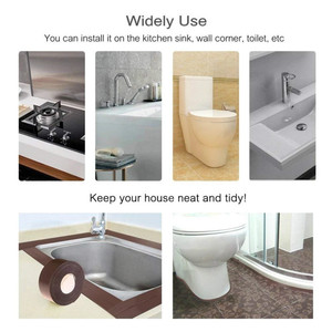 Image 5 - 2021 łazienka prysznic zlew wanna taśma uszczelniająca taśma biała PVC samoprzylepna wodoodporna naklejka ścienna do łazienki kuchnia