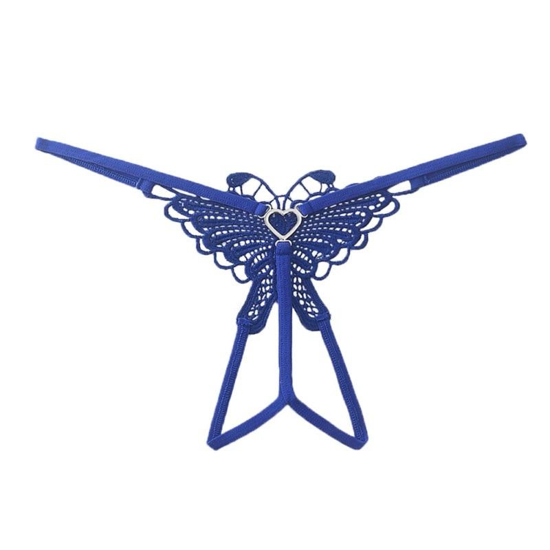 Nylon Women's Underwear Sexy Lingerie Women's Open Crotch Embroidery Temptation Perspective T-shaped Underwear Doll Accessories