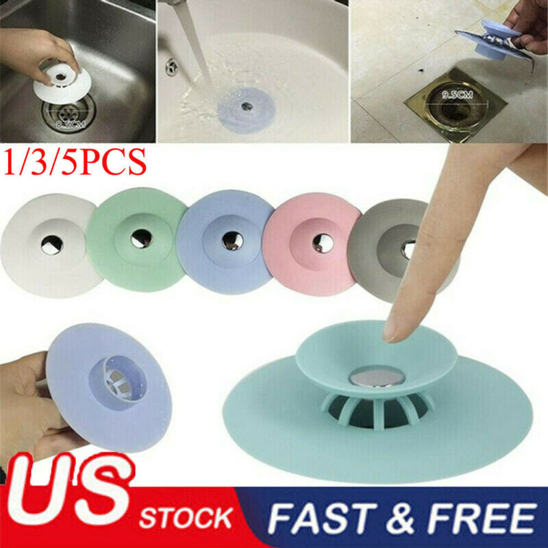 Faroot Easy Install Shower Kitchen Bathroom And Laundry Drains Stopper Strainer Rubber Circle Silicone Plug Sink Bathtub Plug