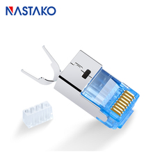RJ45 Cat7 Connector Cat7 Crystal Plugs Shielded FTP RJ45 Modular Connector Cat7 Network Ethernet Cable Jack 1.5MM diameter toolfree rj45 cat7 connector stp shielded modular plug toolless rj45 cat7 connectors for cat 7 solid network cable