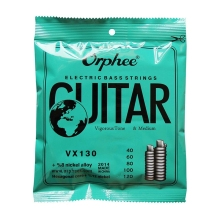Orphee Electric Bass Strings Carbon Steel Series Hexagonal  Wire Medium Light Strong Vx130 5