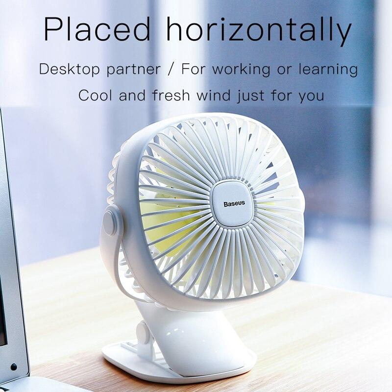 Color : White, Size : 02 Fan Summer USB Mini Fan Desktop Rechargeable Portable Desktop Dormitory Small Fan Mini Portable Cooling Fan