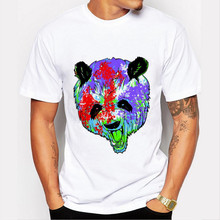 Mens Panda Printed T Shirt Summer Male Hipster Tee Shirts Tops New Arrival Fashion  T-Shirt