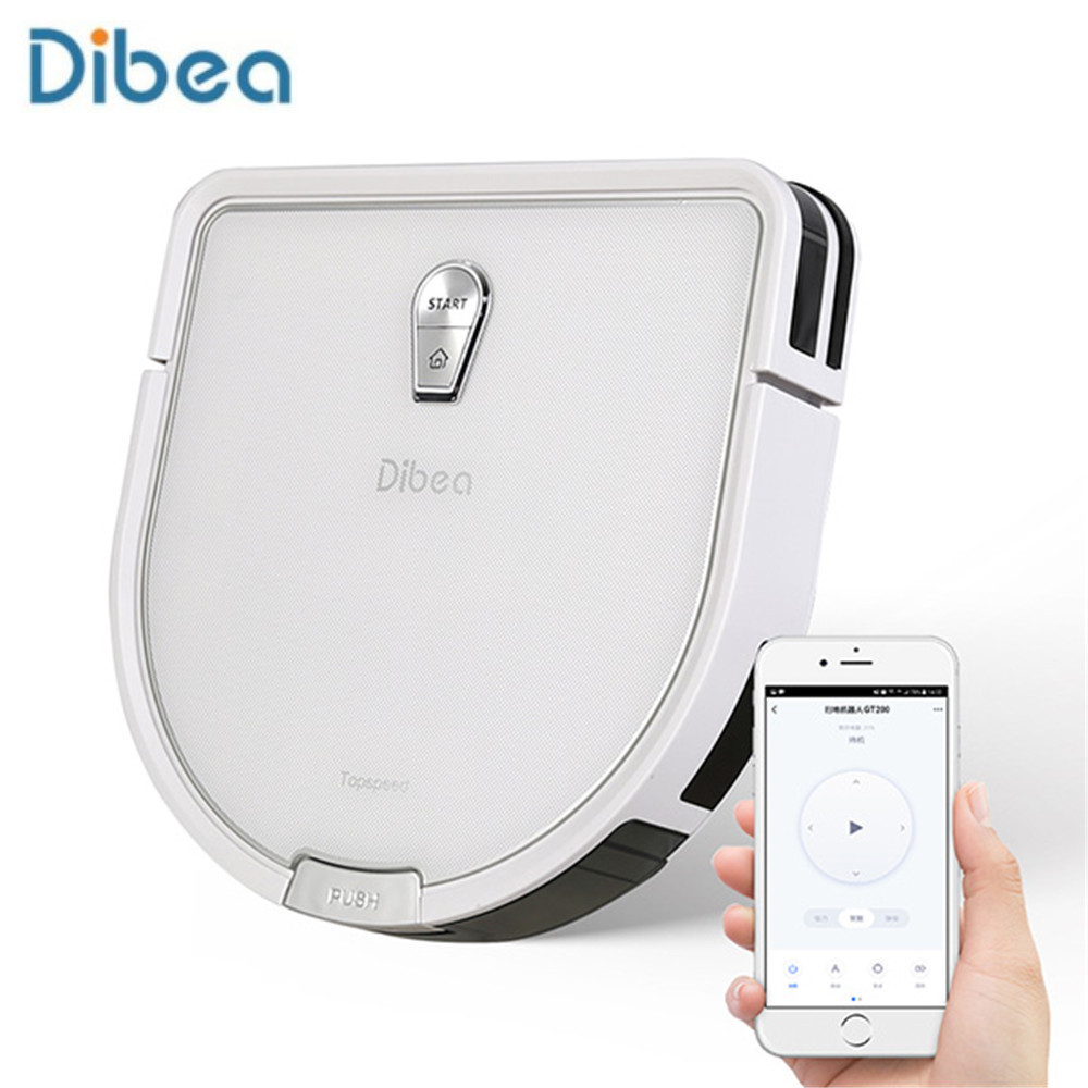 Dibea GT200 Smart Gyroscope Robot Vacuum Cleaner Automatic Sweeping Dust Sterilize Smart Planned Washing Mopping 4 Cleaning Mode(China)