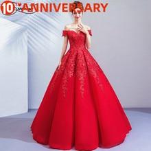 Vestido de boda con estampado floral rojo de OllyMurs, con hombros descubiertos, con encaje y combinación de encaje, ideal para todas las formas de boda