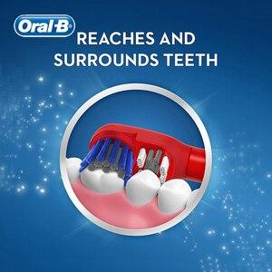 Image 3 - Oral b escova de dentes elétrica especial para crianças goma care oral limpo vibração rotativa cerda macia alimentado por bateria escova de dentes