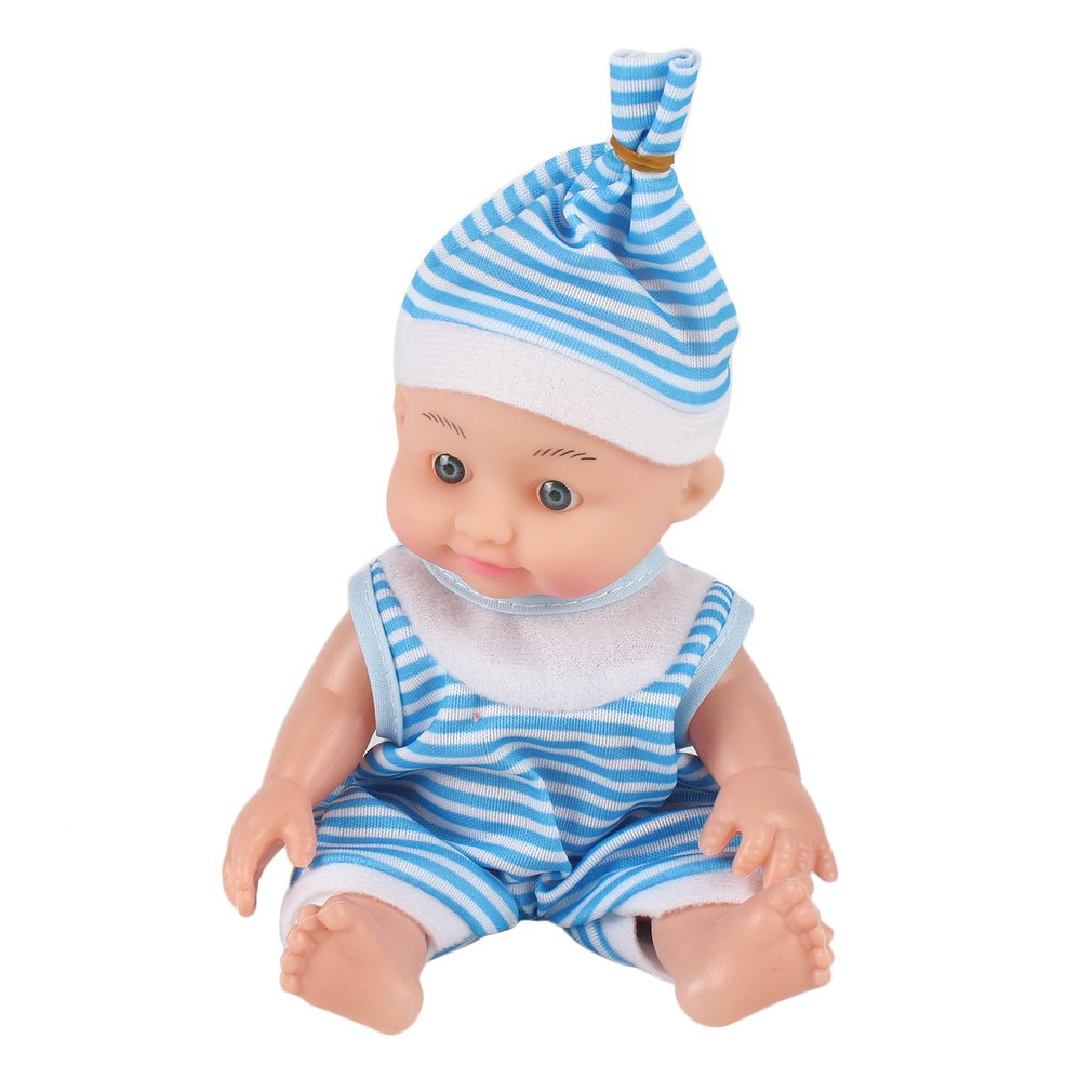 OCDAY Lifelike Babies Doll Baby Soft Silicone Body Dressing Cloth Doll Mini Newborn Doll Parenting Toy for Kids Education Toy