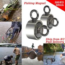Super Strong Magnet Double-sided Powerful Neodymium Magnets Magnetic Search Salvage Fishing Hook Magnets Aimant 80Kg 120Kg 200kg