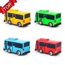 4 шт./упак. мультфильм Мини TAYO шины Такси сзади детские образовательные игрушки включают светящиеся объекты маленький автобус корейское аниме, мультипликационный принт, модель автобусов для детей подарки на день рождения