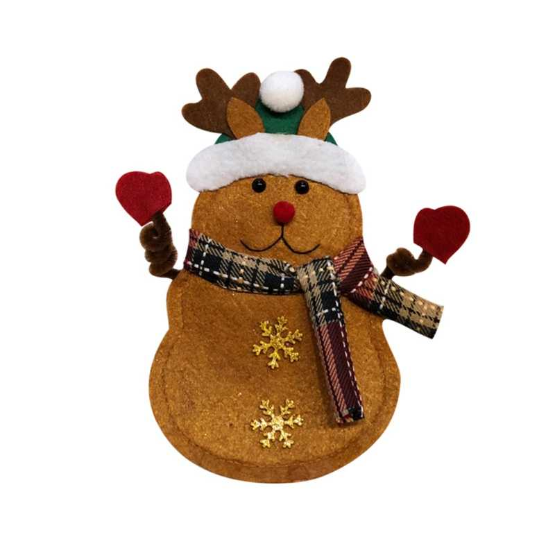 Рождественские украшения для дома карман для столовых приборов вилка нож кармашек для столовых приборов Санта Клаус Декор для обеденного стола домашнее украшение Новинка!