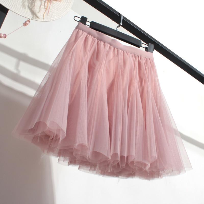 INS Wind Loli Puffy Mesh Skirt Slimming Significantly Higher A- Line Miniskirt Qiu Qun New Style Base Skirt Half-length Skirt