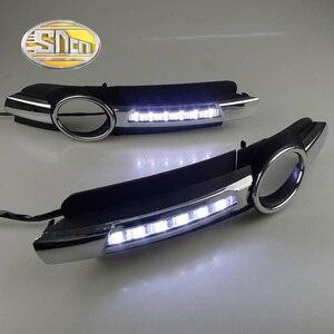Image 4 - For Audi A6 C6 2005 2006 2007 2008 No error Daytime Running Light LED DRL fog lamp Driving Lamp