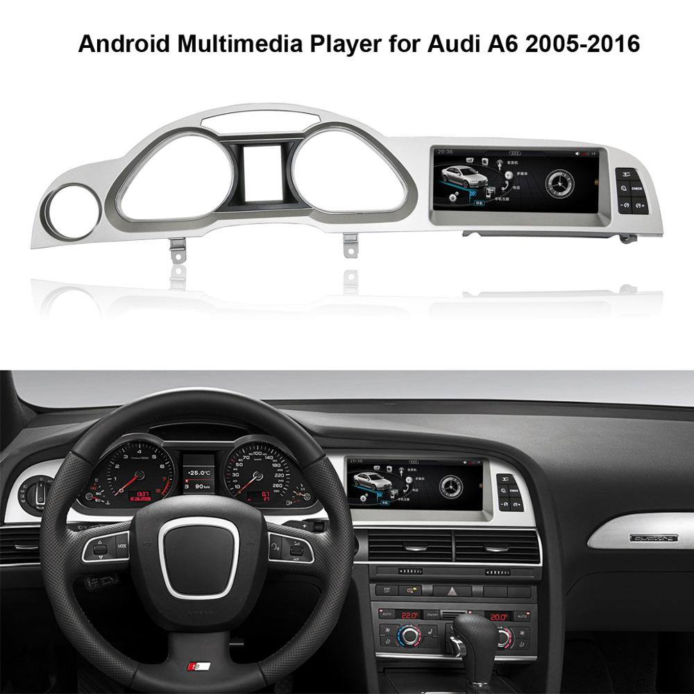 8.8 inch IPS Touch Screen Android Multimedia Player for <font><b>Audi</b></font> <font><b>A6</b></font> 2005-2016 with <font><b>GPS</b></font> <font><b>Navigation</b></font> image