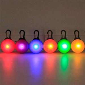 Image 3 - Lumière de porte clés de collier coloré de lumière de nuit de sécurité de Clip LED avec le collier de chien de chat de mousqueton mène la lampe dintense luminosité de lumières