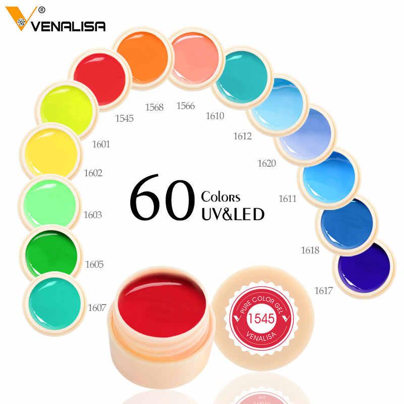 180 מוצק צבעים נייל אמנות עיצובים VENALISA 2019 מכירה לוהטת משרים כבוי צבע ג 'ל UV LED דיו צבע צבע ג' ל ציפורניים לכה ג 'ל לכה
