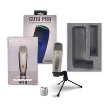 Original Samson C01U Pro micrófono USB súper condensador de monitoreo en tiempo Real micrófono condensador para transmitir grabación de música