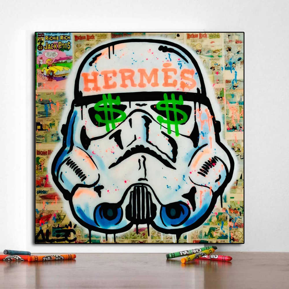 Star Wars Darth Vader Trooper Poster Alec Monopolyingly Tela Cancas per Pittura Moderna di Arte Decorativa Pitture Murali Della Decorazione Della Casa
