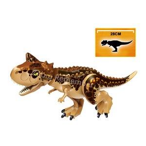 Image 3 - ジュラ紀世界恐竜フィギュアレンガティラノサウルスindominus rex i rex組み立てるビルディングブロック子供のおもちゃdinosuar
