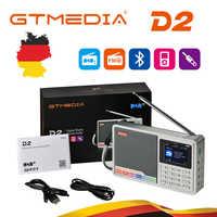 GTMEDIA D2 radio przenośne FM DAB stereo/RDS wielozakresowy głośnik radiowy z wyświetlaczem LCD alarm z wyświetlaczem obsługa karty micro sd TF Card