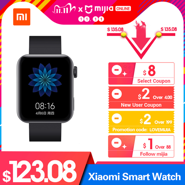 NEW Xiaomi Smart Watch GPS NFC WIFI ESIM Phone Call Bracelet Wristwatch Sport Bluetooth Fitness Heart Rate Monitor Tracker MIUI
