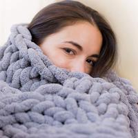4 Size Light Thin Soft Warm Chenille Blanket Winter Sheet Bedspread Sofa Plaid Knitted Blanket Hand Washing Chenille Blanket