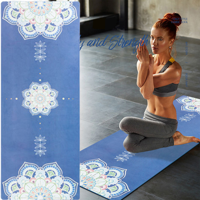183*68cm TPE Suded Yoga Mat 6mm Gym Sports Fitness Exercise Pads Body Aligning Yoga Mat With Position Line Non slip Pilates Mat