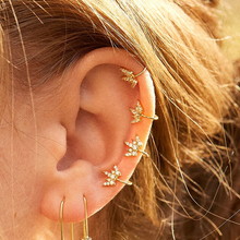 New Fashion Leaves Ear Cuff Set for Women Crystal CZ Earrings No Pierced Stackable Earcuffs Clip on Earrings Jewelry Accessories