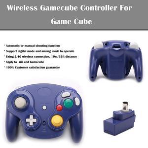 Image 5 - Wii U Gamecube 용 클래식 2.4G 무선 컨트롤러 게임 패드 수신기 어댑터가있는 NGC GC 조이스틱 조이 패드
