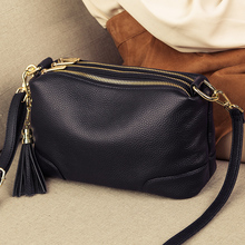 Genuine Leather Women's Handbags Soft Cow Leather Small Flap