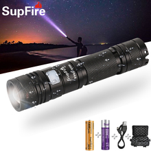 Supfire A2 LED Easy Carry High-Power Tactical Flashlight Adjustable Focus Bicycle Searchlight Rechargeable Strong Light Flashlig