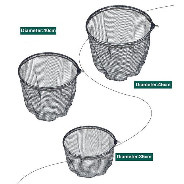 Best Hand Fishing Net Head Aluminum alloy 8mm Screw Folding Dip Fishing Accessories cb5feb1b7314637725a2e7: 35 40 45