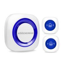 Kablosuz Alarm sistemi güvenlik ev ile SOS panik butonu ve kapı zili düğmesi pil gücü ses Alarm 52 yüzük ayarlanabilir