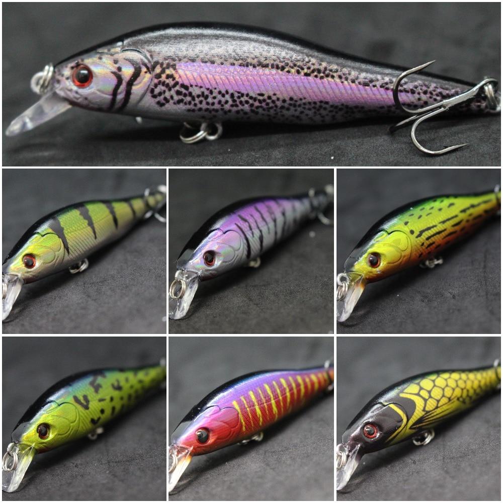 WLure 8.5cm 9.7g Medium Size Good For Fresh Water Fishing 3D Hard Eyes Slow Retrieve Twitch Bait #6 HookMinnow Fishing Lure M597