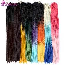 AOOSOO искусственный Locs 20 дюймов плетение Ombre искусственный Locs прямые кудрявые 20 дюймов 24 корня мягкие крючком косы страшный богемный 20 прядей 1 шт