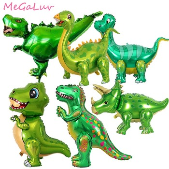 1pc Green Dinosaur Standing Foil Balloons Dinosaur Party Supplies Birthday Decoration Ballons Jungle Animal Part Supplies Globos animal balloons dinosaur party animal shaped children party decoration large giant dinosaurs inflatable dinosaur balloons toys