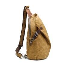 Новый стиль водонепроницаемый батика рюкзак ретро груди пакет мужской один плечо холст повседневная сумка пельмени типа