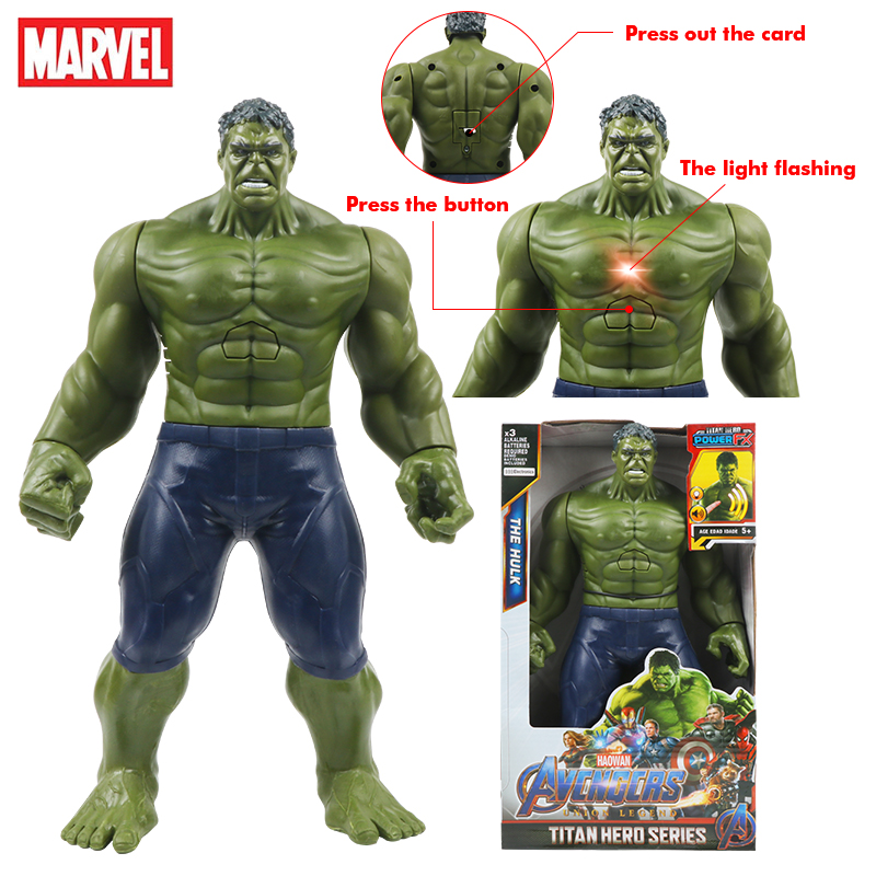 Экшн-фигурка Marvel Мстители Халк, игрушка-модель, супергерои титанов, Tech Giant Hulk, подарок для детей на день рождения, 12 дюймов/30 см