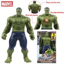12 avengers 30/30cm marvel vingadores hulk figura de ação modelo brinquedos titan super heróis tecnologia gigante hulk brinquedo para crianças presentes de aniversário