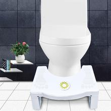 Foldable Squatting Stool Plastic Non-slip Bathroom Toilet Children Kid Footstool Auxiliary Tool with Replaceable Spice Box