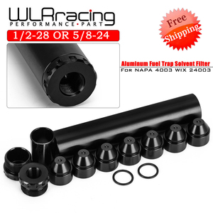 FREE SHIPPING - Aluminum 1/2-28 or 5/8-24 Car Fuel Filter 1X7 or 1X13 Car Solvent Trap FOR NAPA 4003 WIX 24003