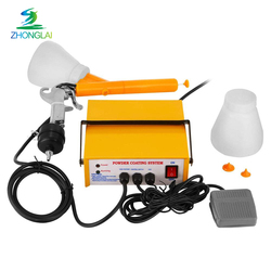 portable manual spray gun electrostatic spray powder coating gun system machinery 220V