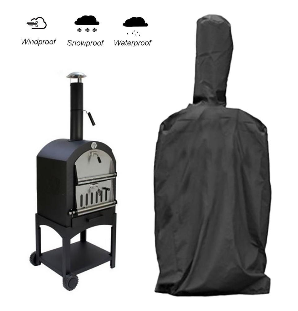 Black Outdoor Pizza Oven Luxury Rainproof Cover Barbecue Box Dustproof PVC Cover