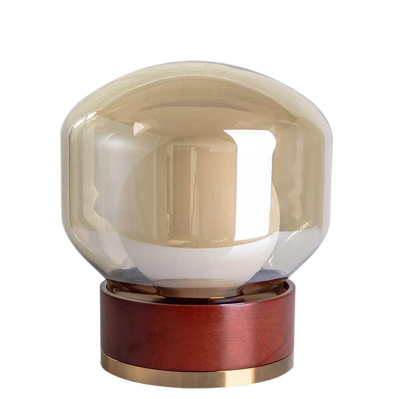 Современный минималистичный деревянный стеклянный шар прикроватный столик лампа для ночной спальни гостиной столовой Лофт Декор