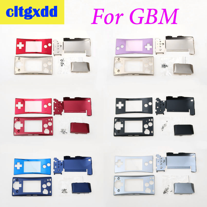 cltgxdd Controller 4 in 1 metal Housing Shell Pack With Screwdriver For Nintendo GameBoy MICRO G B M <font><b>Case</b></font> Cover replacement image