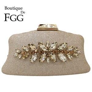 Image 1 - Boutique de fgg glitter feminino embreagem cristal sacos de noite nupcial formal jantar bolsas e bolsas festa casamento diamante saco
